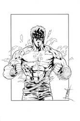 Kenshiro 1 - Inks by The-Real-NComics