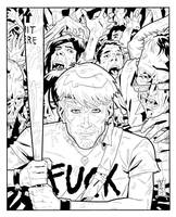 Fuck Zombie Artwork - Inks by The-Real-NComics