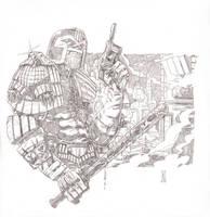 Judge Dredd - Pencils by The-Real-NComics