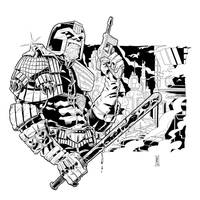 Judge Dredd - Inks by The-Real-NComics