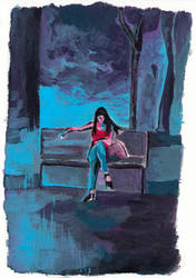 Waiting (Blue II) by Jujulsbp