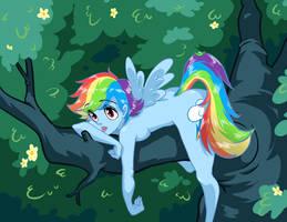Rainbowdash by mosuga