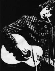 Bob Dylan 1966 by justinsdrawings