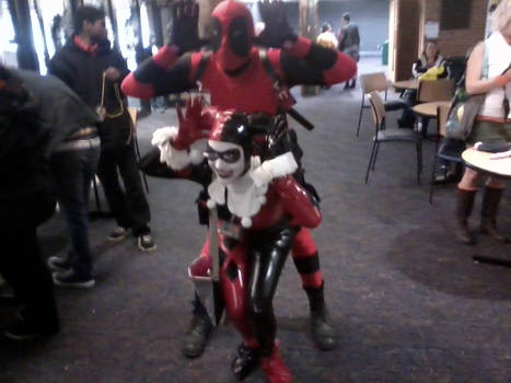 Deadpool and Harley Quinn Tigercon 2012 by White-Wolf-Terra