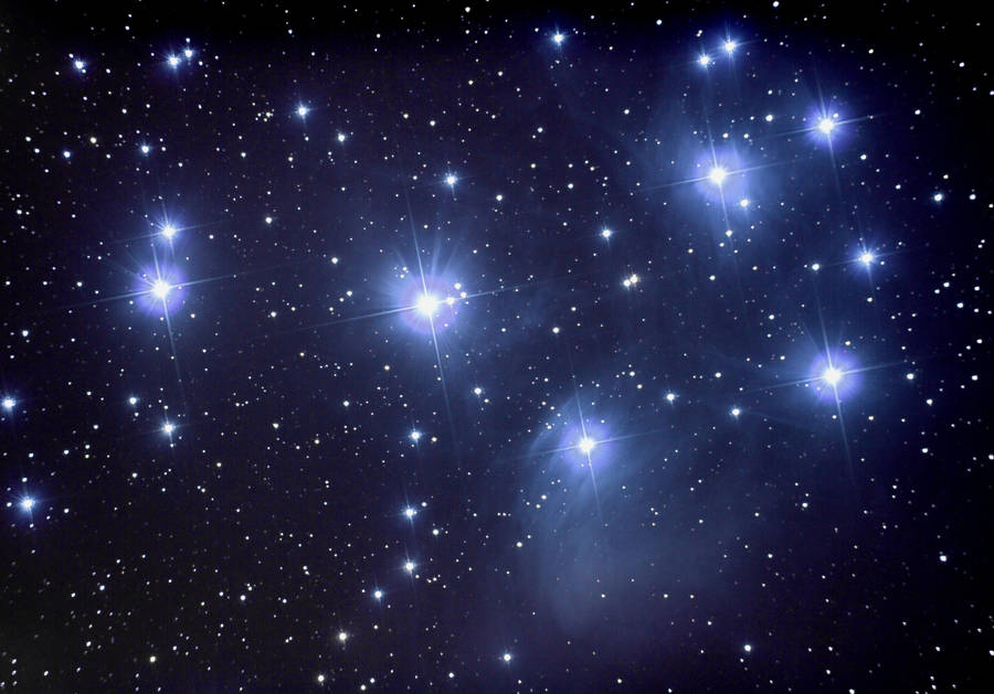 Pleiades open cluster by kopfgeist79
