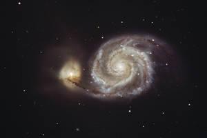 Whirlpool galaxy by kopfgeist79