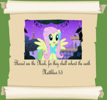 MLP Christian quotes. Fluttershy. by GennadyKalugina