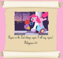 MLP Christian quotes. Pinkie pie by GennadyKalugina