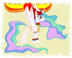 Princess Celestia Egyptian by GennadyKalugina