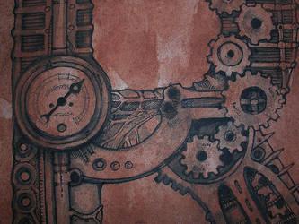 steampunk alphabet by inkzoo
