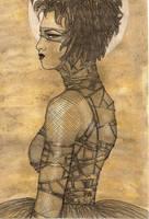 bondage ballgown by inkzoo