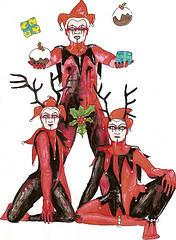 jesters of yule by inkzoo