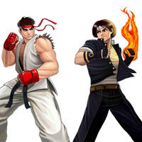 Player Select: Ryu VS Kyo by Garoooooh