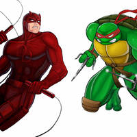 Player Select: Daredevil VS Raphael by Garoooooh