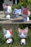 Three Kittens - Papercraft by Lyrin-83