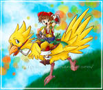 Hitchin' a Chocobo Ride by Lyrin-83