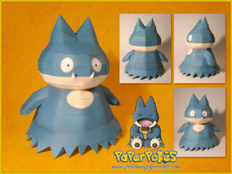 Munchlax Papercraft by Lyrin-83