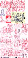 Sketchdump: Studies by e1n