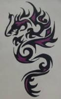 Purple Dragon by SabrinaTheGhost