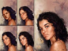 Portrait Study - Process by BisBiswas
