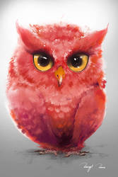 Toon Baby Owl by BisBiswas