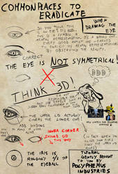 Commonplaces to ERADICATE drawing Eyes [Tutorial] by Dex91