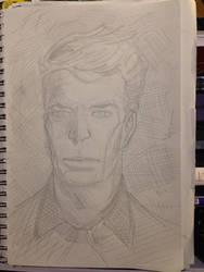 David Bowie Drawing  by iImperator