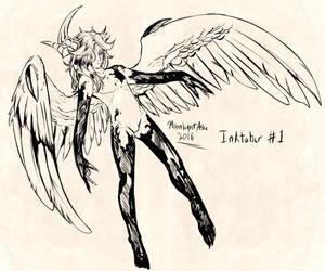 Inktober 2016 #1 Thanatos by MoonlightAshe