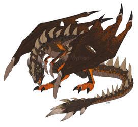 WIP Obsidian Dragon by mythori