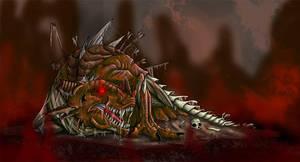 Zombie-Dragon by mythori