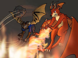 Nekronos and Scarbo Battling your Enemy by Nekromonos