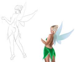 Tinkerbell in progress by Naralim