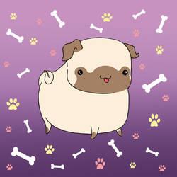 Pug by Nathaldron