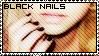 I love painting my nails black by narUKEE