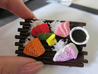 Sashimi Platter w Soy Sauce by WinMush