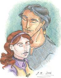 Daine and Numair by ranneyem