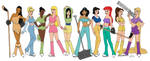 Disney Ice Girls by DubyaScott