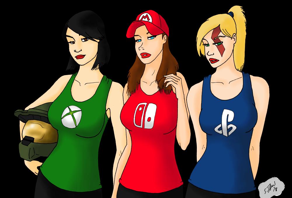 Gamer Girls by DubyaScott