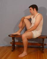 Tuxedo Jay Sitting 3 by SenshiStock