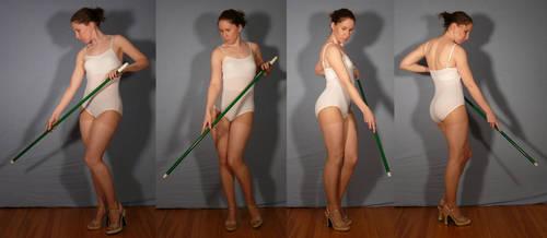 180 Staff Turn - Pose Reference by SenshiStock