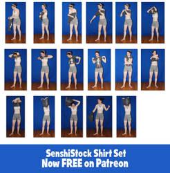 SenshiStock Shirt Set - FREE on Patreon! by SenshiStock