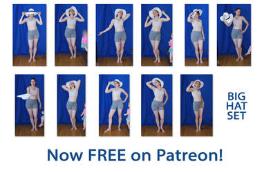 SenshiStock Big Hat Set - FREE on Patreon! by SenshiStock