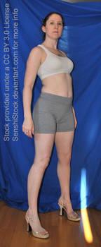 Pose Reference Figure Model Woman Standing Base by SenshiStock