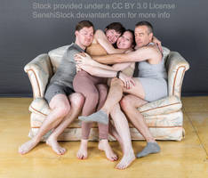 Kickstarter Group Pose - Couch Cuddles by SenshiStock