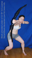 Crouching Archer Foreshortening Perspective Pose by SenshiStock