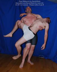 Carrying Injured Partner Poorly [Pose Ref for Art] by SenshiStock