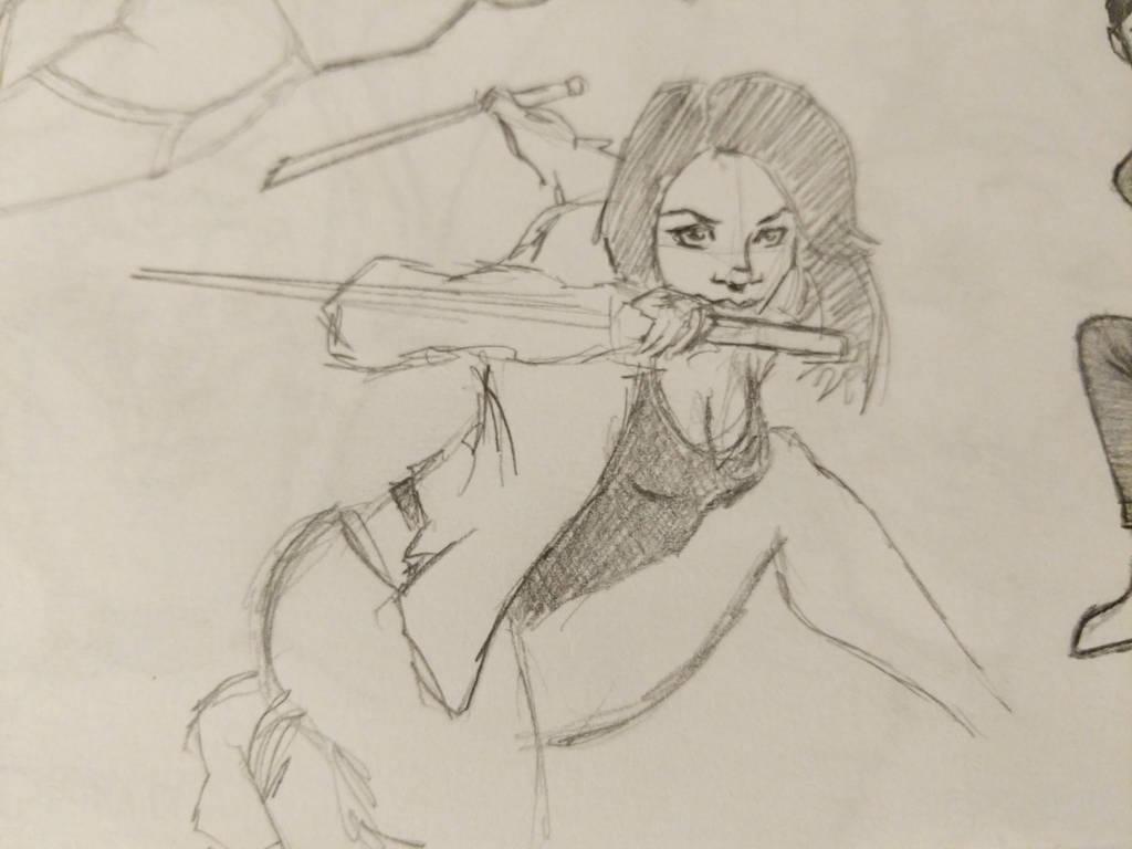 martial arts girl sketch by aeby530