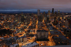 Seattle at Dusk by zootnik