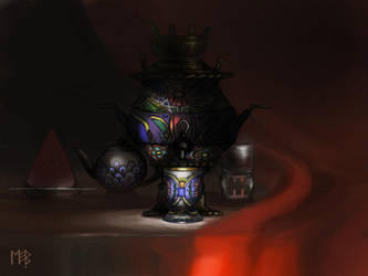 Samovar Still Life by Morag-I