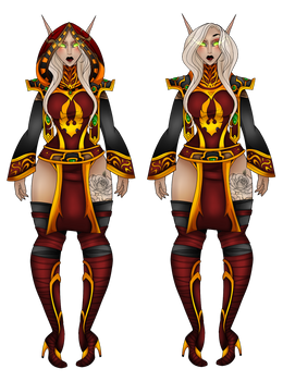 Maaith Suntress: Priestwear (with and without hood by DerpQueenLily